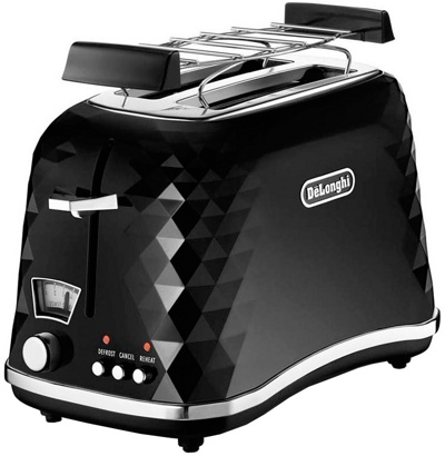 Тостер DeLonghi Brillante CTJ2103.BK